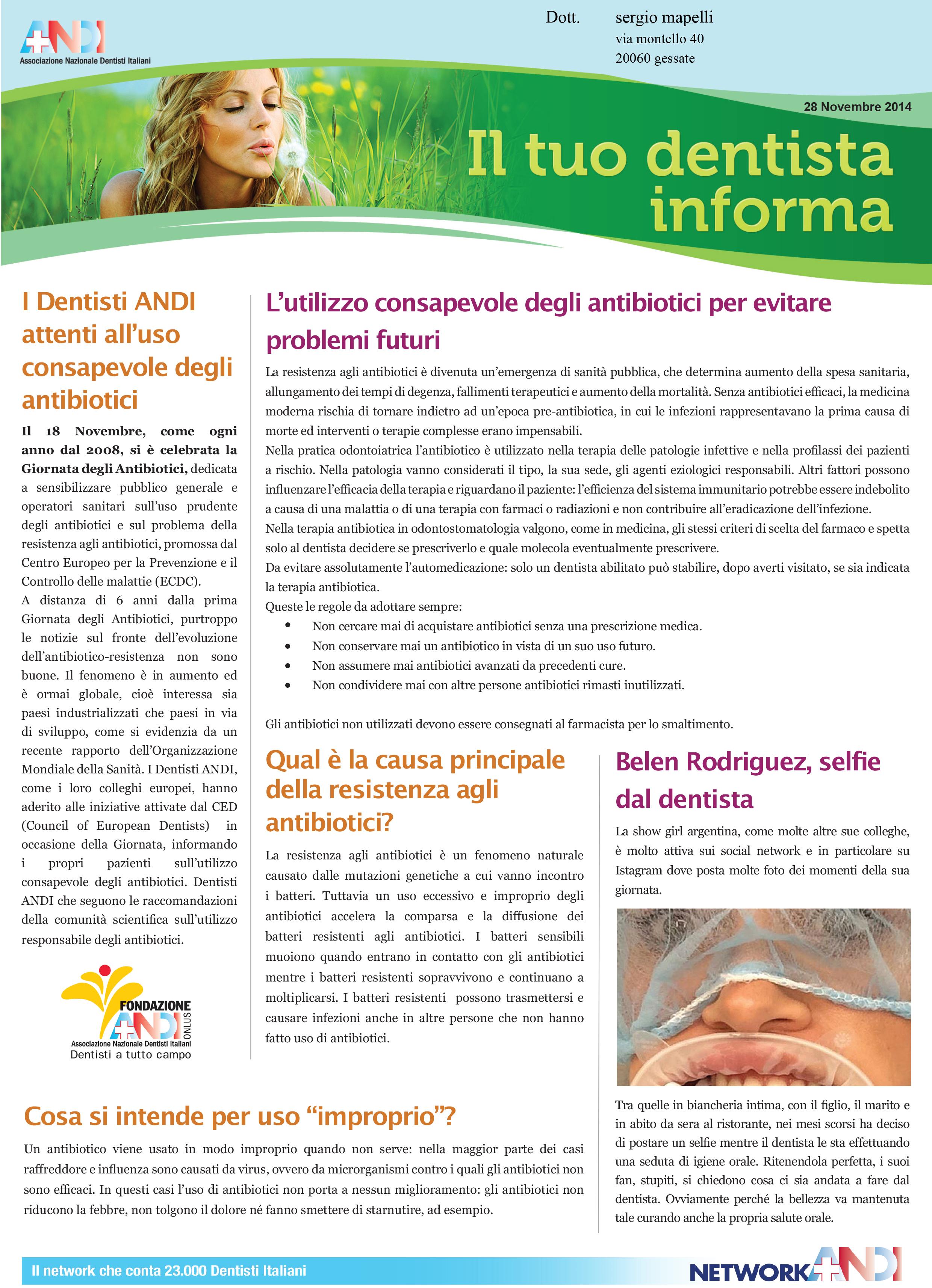 Antibiotici, alcune raccomandazioni.